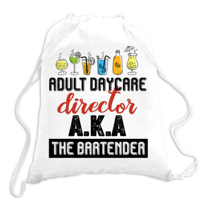 Adult Daycare Director Aka The Bartender Retro Vintage Drawstring Bags Designed By Vip.pro123