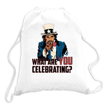 Afro Uncle Sam Independence Day T Shirt Drawstring Bags Designed By Sabakotaboy