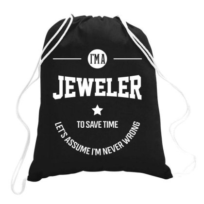 I Am Jeweler - Jeweler Job Gift Funny Drawstring Bags Designed By Diogo Calheiros