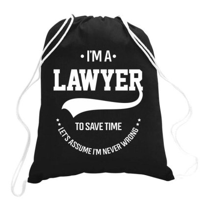 I Am Lawyer - Lawyer Job Gift Funny Drawstring Bags Designed By Diogo Calheiros