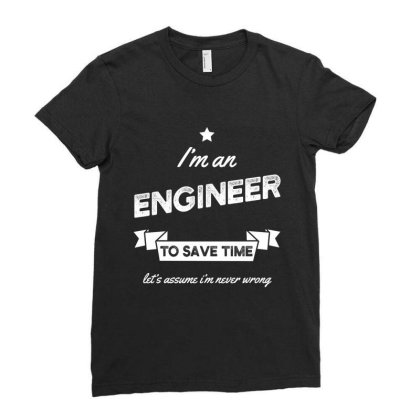 I Am Engineer - Engineer Job Gift Funny Ladies Fitted T-shirt Designed By Diogo Calheiros