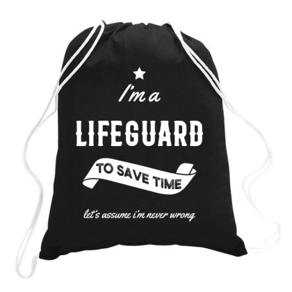 I Am Lifeguard - Lifeguard Job Gift Funny Drawstring Bags Designed By Diogo Calheiros