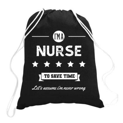 I Am Nurse - Nurse Job Gift Funny Drawstring Bags Designed By Diogo Calheiros