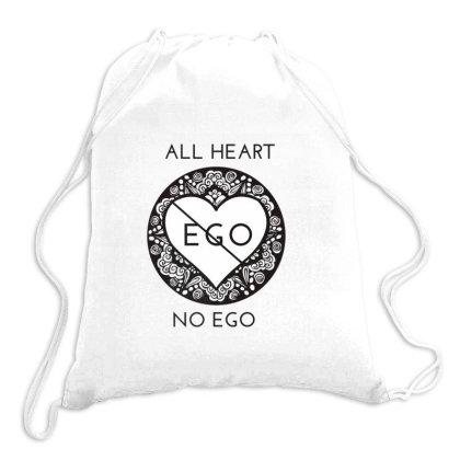 All Heart No Ego Zen Mindful Yoga Premium T Shirt Drawstring Bags Designed By Sabakotaboy