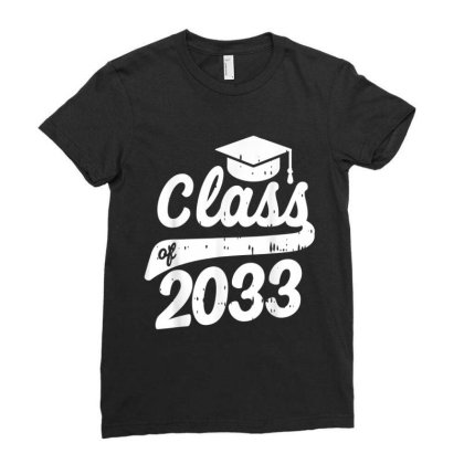 Class Of 2033 Grow With Me First Day Of Kindergarten Gift Ladies Fitted T-shirt Designed By Conco335@gmail.com