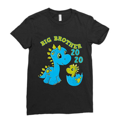 Kids Big Brother 2020 Shirt Dino Big Brother Dinosaur Ladies Fitted T-shirt Designed By Conco335@gmail.com