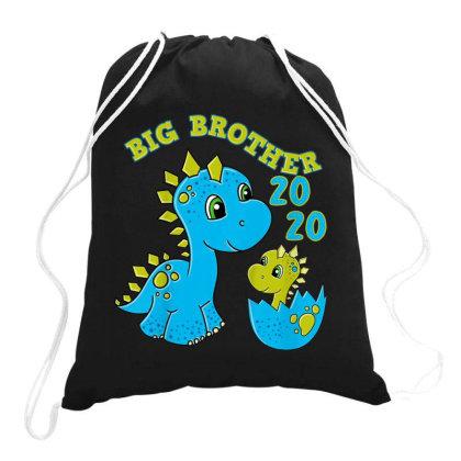 Kids Big Brother 2020 Shirt Dino Big Brother Dinosaur Drawstring Bags Designed By Conco335@gmail.com
