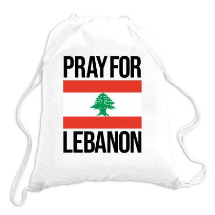 Pray For Lebanon Drawstring Bags Designed By Lawrensia