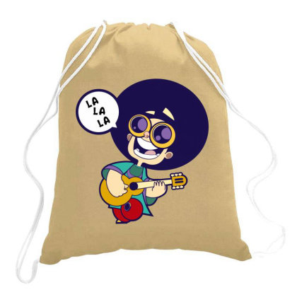 Boy Singing Song Drawstring Bags Designed By Chiks