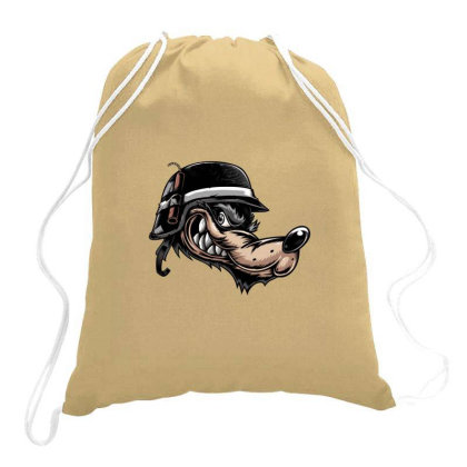 Angry Wolf Squad Drawstring Bags Designed By Chiks