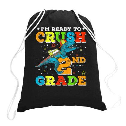 2th Grade Dinosaur T Rex Back To School Drawstring Bags Designed By Kakashop