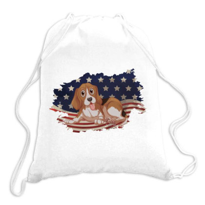 Beagle American Flag Usa Patriotic  4th Of July Gift Drawstring Bags Designed By Vip.pro123