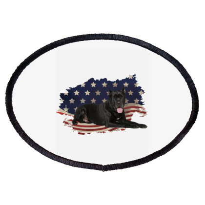 Cane Corso American Flag Usa Patriotic  4th Of July Gift Oval Patch Designed By Vip.pro123