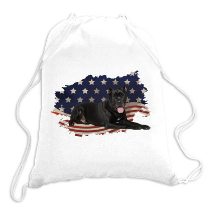 Cane Corso American Flag Usa Patriotic  4th Of July Gift Drawstring Bags Designed By Vip.pro123