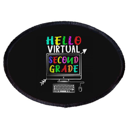 Hello Virtual Second Grade Back To School Oval Patch Designed By Kakashop