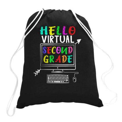 Hello Virtual Second Grade Back To School Drawstring Bags Designed By Kakashop