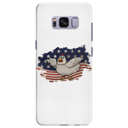 Chicken American Flag Usa Patriotic  4th Of July Gift Samsung Galaxy S8 Plus Case Designed By Vip.pro123