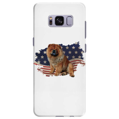 Chow Shepherd American Flag Usa Patriotic  4th Of July Gift Samsung Galaxy S8 Plus Case Designed By Vip.pro123