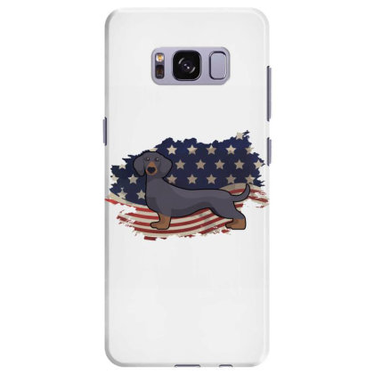 Dachshund American Flag Usa Patriotic  4th Of July Gift Samsung Galaxy S8 Plus Case Designed By Vip.pro123