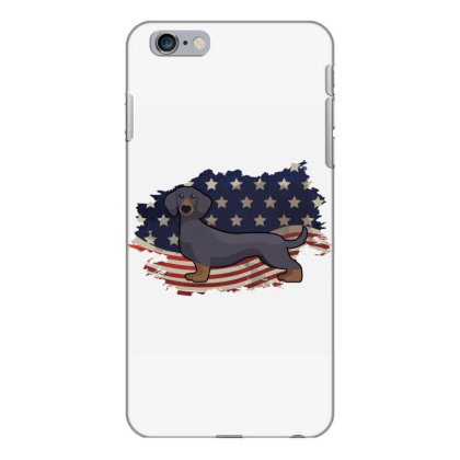 Dachshund American Flag Usa Patriotic  4th Of July Gift Iphone 6 Plus/6s Plus Case Designed By Vip.pro123