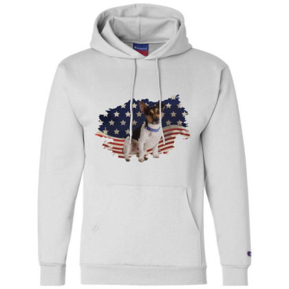 Terrier American Flag Usa Patriotic  4th Of July Gift Champion Hoodie Designed By Vip.pro123