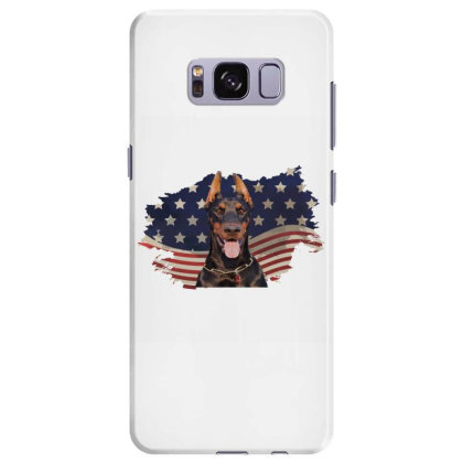 Doberman American Flag Usa Patriotic  4th Of July Gift Samsung Galaxy S8 Plus Case Designed By Vip.pro123