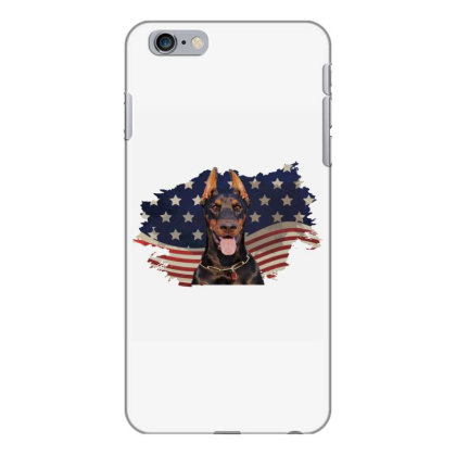 Doberman American Flag Usa Patriotic  4th Of July Gift Iphone 6 Plus/6s Plus Case Designed By Vip.pro123