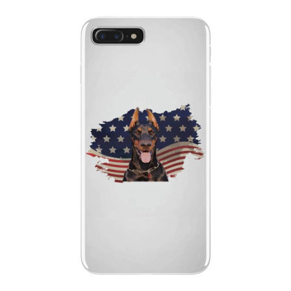 Doberman American Flag Usa Patriotic  4th Of July Gift Iphone 7 Plus Case Designed By Vip.pro123