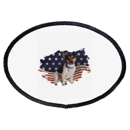 Terrier American Flag Usa Patriotic  4th Of July Gift Oval Patch Designed By Vip.pro123