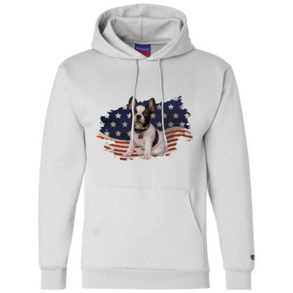 French Bulldog American Flag Usa Patriotic  4th Of July Gift Champion Hoodie Designed By Vip.pro123