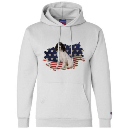 French Spaniel American Flag Usa Patriotic  4th Of July Gift Champion Hoodie Designed By Vip.pro123