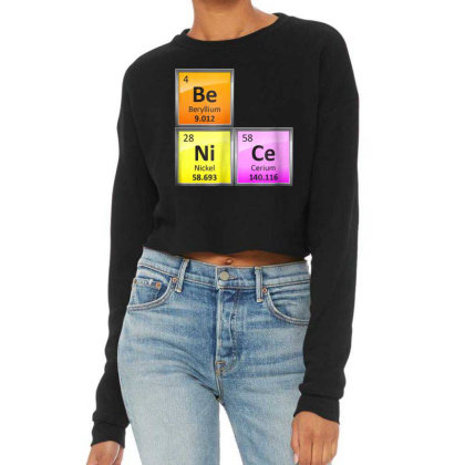 Science Be Nice Periodic Cropped Sweater Designed By Kakashop