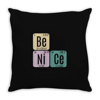 Science Be Nice Periodic 1 Throw Pillow Designed By Kakashop