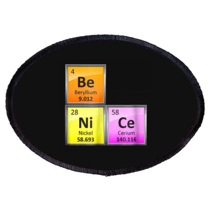 Science Be Nice Periodic Oval Patch Designed By Kakashop