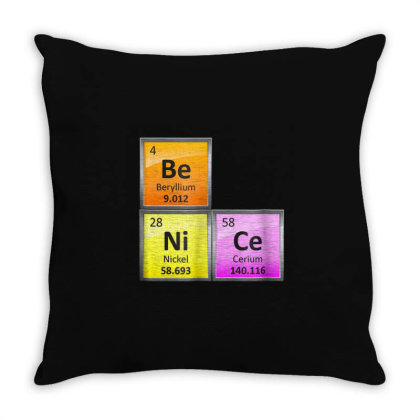 Science Be Nice Periodic Throw Pillow Designed By Kakashop