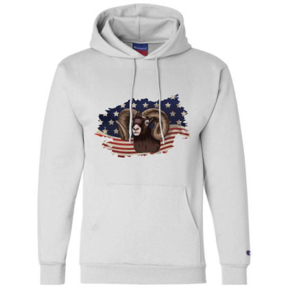 Goat American Flag Usa Patriotic  4th Of July Gift Champion Hoodie Designed By Vip.pro123