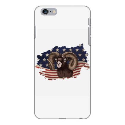 Goat American Flag Usa Patriotic  4th Of July Gift Iphone 6 Plus/6s Plus Case Designed By Vip.pro123
