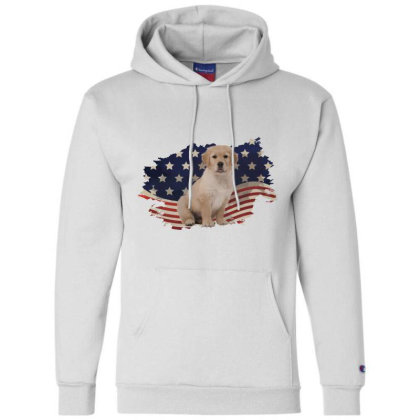 Golden Retriever American Flag Usa Patriotic  4th Of July Gift Champion Hoodie Designed By Vip.pro123