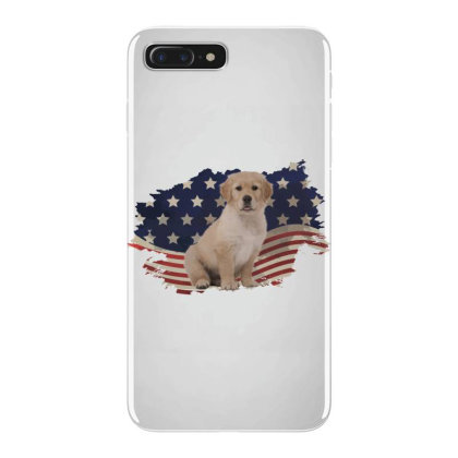 Golden Retriever American Flag Usa Patriotic  4th Of July Gift Iphone 7 Plus Case Designed By Vip.pro123