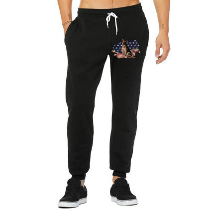 German Shepherd Dog American Flag Usa Patriotic  4th Of July Gift Unisex Jogger Designed By Vip.pro123