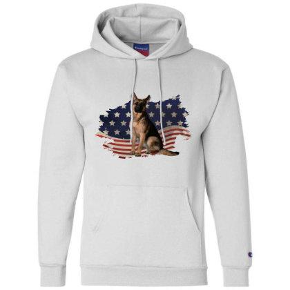 German Shepherd Dog American Flag Usa Patriotic  4th Of July Gift Champion Hoodie Designed By Vip.pro123
