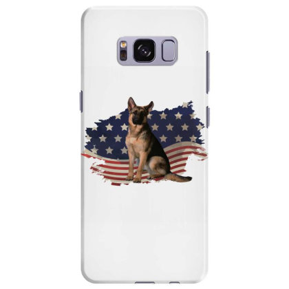 German Shepherd Dog American Flag Usa Patriotic  4th Of July Gift Samsung Galaxy S8 Plus Case Designed By Vip.pro123