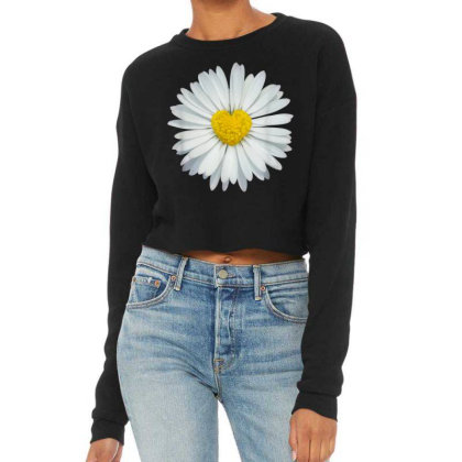 White And Yellow Heart Cropped Sweater Designed By Kakashop