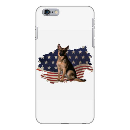German Shepherd Dog American Flag Usa Patriotic  4th Of July Gift Iphone 6 Plus/6s Plus Case Designed By Vip.pro123