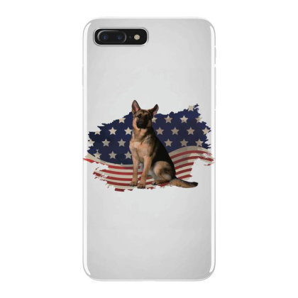 German Shepherd Dog American Flag Usa Patriotic  4th Of July Gift Iphone 7 Plus Case Designed By Vip.pro123