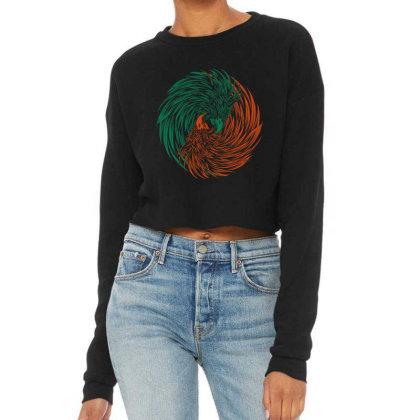Eagle Yin Yang Consept Cropped Sweater Designed By Romancity