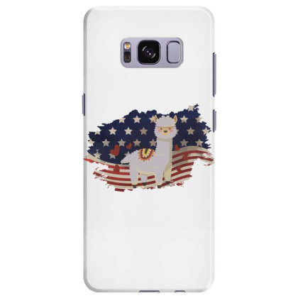Llama American Flag Usa Patriotic  4th Of July Gift Samsung Galaxy S8 Plus Case Designed By Vip.pro123