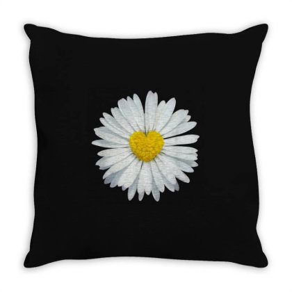 White And Yellow Heart Throw Pillow Designed By Kakashop