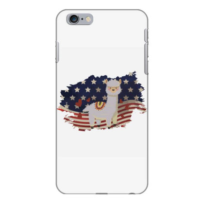 Llama American Flag Usa Patriotic  4th Of July Gift Iphone 6 Plus/6s Plus Case Designed By Vip.pro123