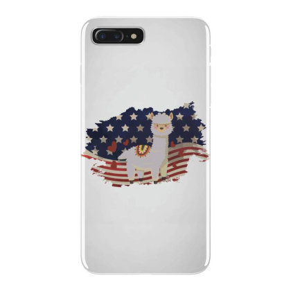 Llama American Flag Usa Patriotic  4th Of July Gift Iphone 7 Plus Case Designed By Vip.pro123